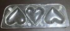 Professional polycarbonate chocolate moulds Hans Brunner 212 - 3 Hearts x1