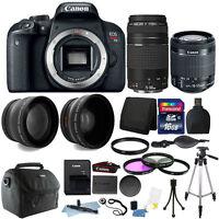 Canon EOS Rebel T7i 24.2MP DSLR + 18-55 IS STM + 75-300mm Lens + 16GB Bundle