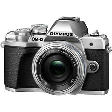 Olympus OM-D E-M10 Mark III Digital Camera + 14-42mm EZ Lens (Silver)