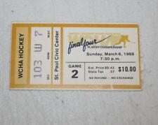 Wcha Final Four Hockey Ticket Stub | March 6 1988 | Wisconsin Badgers