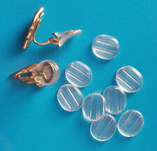 20 small plastic comfort sleeves for clip on earrings