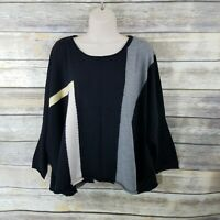 Babette Size 3 100% Merino Wool Knit Boxy LS Sweater Oversized Lagenlook $278