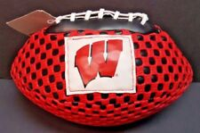 "University of Wisconsin Badgers 8.5"" Gripper Football Ncaa Licensed Nwt"