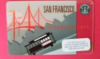 "STARBUCKS GIFT CARD 2009 ""SAN FRANCISCO CABLE CAR"" VHTF🔥RARE🔥MINT🔥NO VALUE"