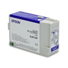 Epson TM-3400 Ink Cartridge - 3 Color Epson SJIC15P Ink Cartridge - Cyan,