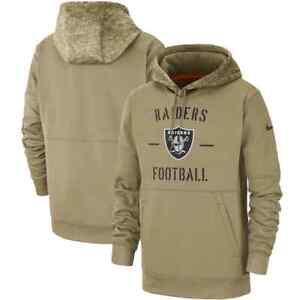 Nike Las Vegas Raiders NFL Salute to Service Therma Women Hoodie AT6743 Size LG