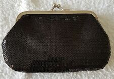 A Lovely Black Sequined Shimmery Coin Purse