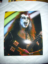 KISS-RARE GENE SIMMONS '1973 SHOW' 8X10 COLOR PHOTO.KILLER SHOT OF THE DEMON