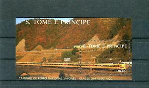 S. Tomé E Principe Block 179 postfrisch Eisenbahn/railway Thematik - b7942