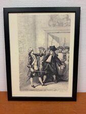 Framed engraving 30x40 cm Freemason Vrijmetselarij Dekker Tyler