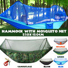 Double Person Camping Hanging Hammock Bed With Mosquito Net Summer Hikin u