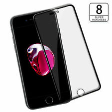 5D Curved Edge To Edge Tempered Glass Screen Protector Black For Apple iPhone 8