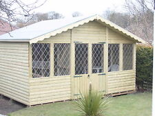 14x8  T&G  loglap apex roof  summer house  (pressure treated)