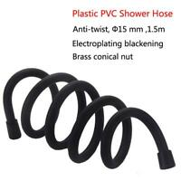 1.5m Flexible Matte Black PVC Shower Hose Bathroom Explosion-proof Pipe