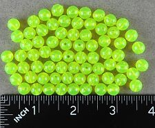 8mm 200 Ct Round CHARTREUSE YELLOW Beads USA Fishing Tackle Free Shipping