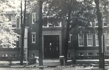 Morenci Michigan~Shaded From the Sun High School~1950s Real Photo Postcard