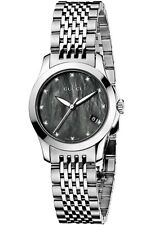 GUCCI YA126505 Women's 126.5 Series Mother Of Pearl Diamond Accented Dial Watch