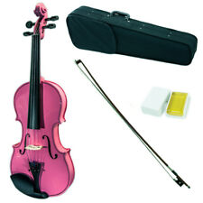 SKY 4/4 Full Size Solid Wood Pink Violin Beautiful Purfling with Brazilwood Bow