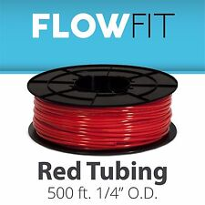 "Express Water 1/4"" Quarter Inch Red PE Tubing Reverse Osmosis RO System 500 Feet"