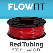 "Express Water 1/4"" Quarter Inch Red PE Tubing Reverse Osmosis RO System 500 Feet"