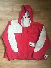 DC Mountain Lab Outdoor Coat Red Beige Nylon Ladies Size Large