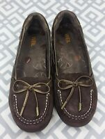 Dr. Andrew Weil Suede Leather Moccasin Loafers Orthopedic Slip On Shoes Size 6.5