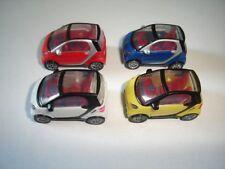 SMARTS FORTWO MODEL CARS SET 1:87 H0 - KINDER SURPRISE PLASTIC MINIATURES