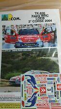 DECALS 1/43 REF 830 CITROEN XSARA WRC SEBASTIEN LOEB TOUR DE CORSE 2004 RALLY