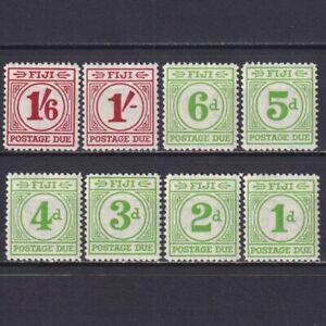 FIJI 1940, SG# D11-D18, CV £140, Postage Due Stamps, MH