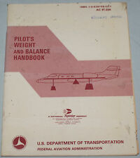 Pilot's Weight and Balance Handbook US DOT Planes Gliding Paperback Booklet