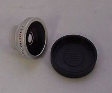 New 180° Fish Eye Lens + Macro Lens Magnetic Mount For Iphone 4 4s 5 s3 Silver