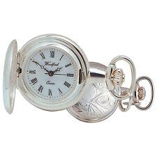 Woodford Ladies' Quartz Full-hunter Pocket Watch 1201 Sterling Silver Mini Wi