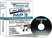 Cinta 2 MP3-Transferencia Viejos Cassettes A MP3 o CD - 1m KIT de Hágalo usted mismo con Cd Gratis De Regalo