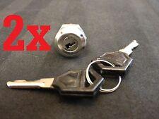 2x 2pcs Key Switch OFF-ON Lock metal toggle lock security KS-01 electronic a2