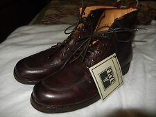 New Frye Phillip Lug Leather Work Boots Dark Brown  US Size 9 M MINT $418 NWT'S