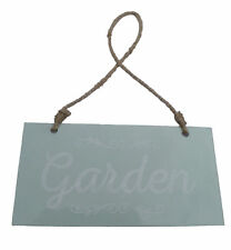 New Metal Garden Sign Plaque Hanging on String Greenhouse