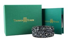 THORSON HOSIER MULTI JET CUFF BRACELET SWAROVSKI NEW $395 USA ORIGINAL BOX