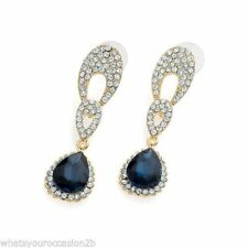 Crystal Butterfly Drop/Dangle Stone Costume Earrings