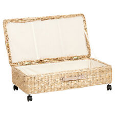 LARGE UNDER BED STORAGE BOX/TRUNK WHEELED UNDERBED SHOE/BEDDING/BLANKET CHEST