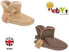 New Luxury Ladies Womens Soft Fleece Warm Slipper Boots / Booties UK Sizes 3-8