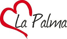 "Auto Aufkleber "" LA PALMA "" Sticker Insel Spanien ca.9x15cm konturgeschnitten"