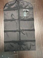 "Chanel Garment Bag Genuine Black Vinyl Storage Travel Bag 40"" X 24"""