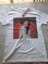 Mens White STAR WARS Tshirt - Princess Leila Size Small BNWT