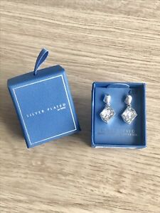 Brand New NEXT Silver Plated Swarovski Crystal Drop Earrings / Christmas Gift