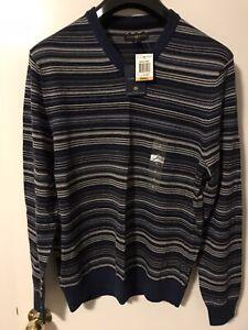 Club Room Men Merino Wool Sweater/Knitwear Striped New (S)