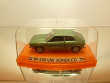 PILEN M205 VW VOLKSWAGEN SCIROCCO - GREEN METALLIC 1:43 - VERY GOOD IN SHOW-CASE
