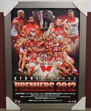 Sydney Swans 2012 Premiership Official ESP AFL Print Silver Frame Goodes McVeigh