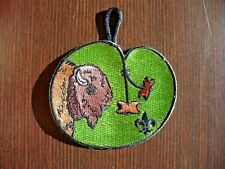 Woodbadge BUFFALO Patrol Totem w/Beads Pocket Patch with Hanger BSA Wood Badge
