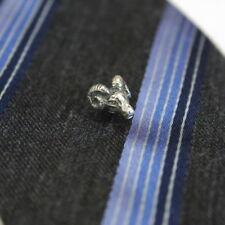 Ram Head Ascot Stickpin Stick Pin Lapel Sterling Silver Tie Pin 525