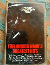 Thelonious Monk Greatest Hits Cassette Tape Classic Jazz Music Legend